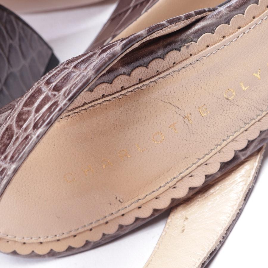 Sandaletten von Charlotte Olympia in Braun und Schwarz Gr. D 37,5