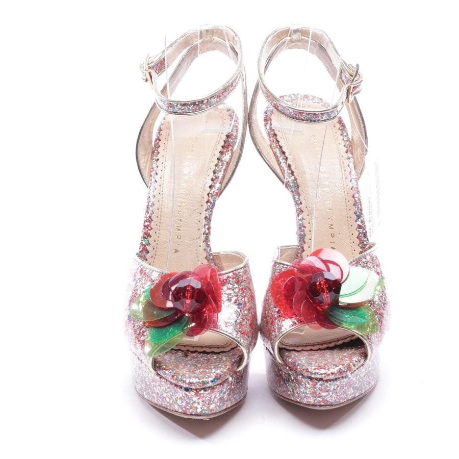 Sandaletten von Charlotte Olympia in Multicolor Gr. D 37,5