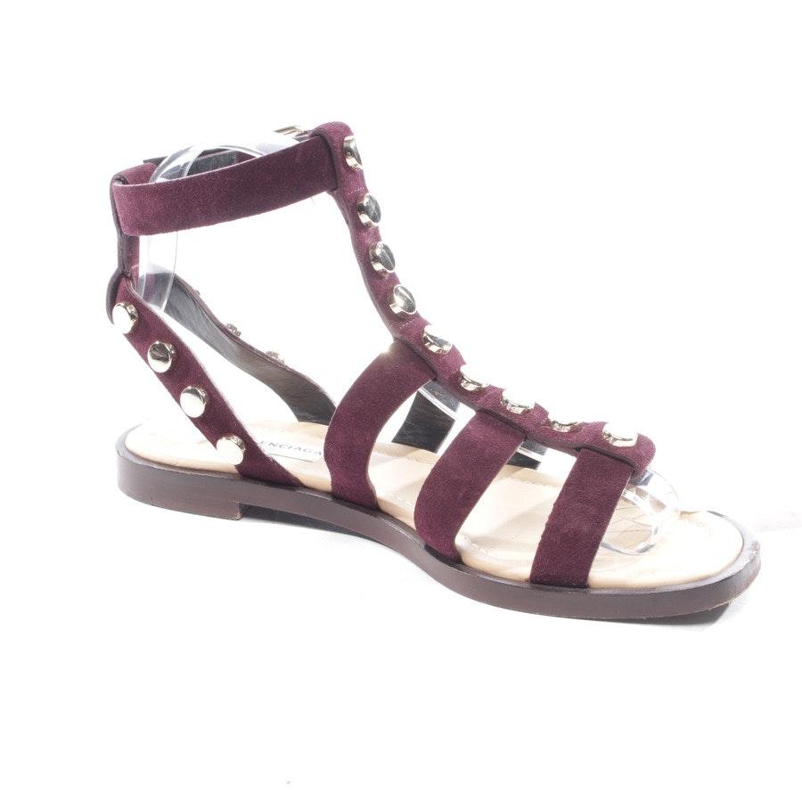 Sandalen von Balenciaga in Pflaume Gr. D 37,5