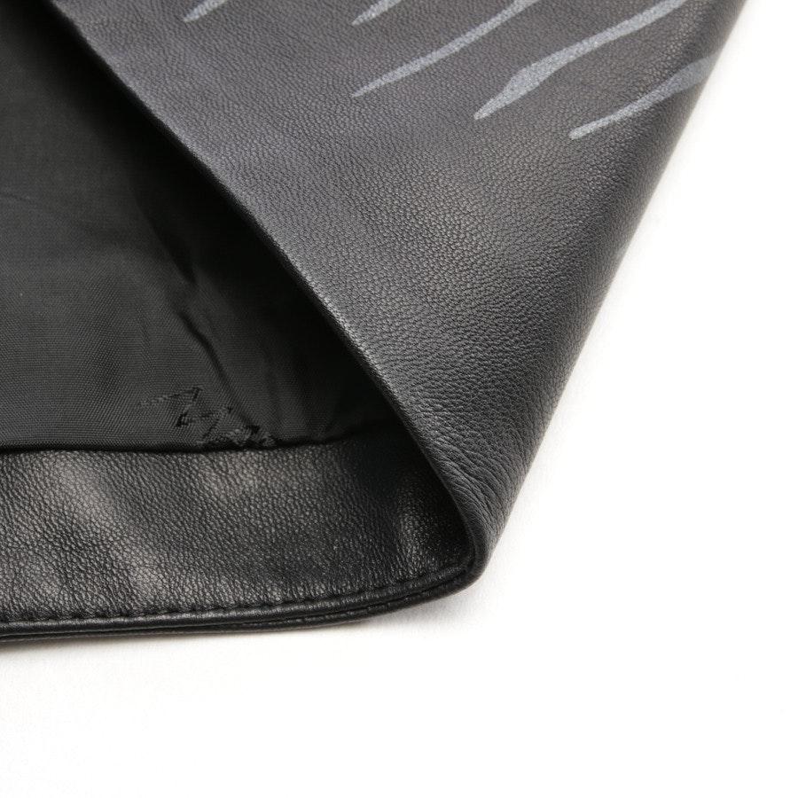 Lederrock von Marc Cain in Schwarz und Grau Gr. 36 N3