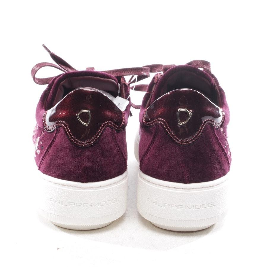 Sneaker von Philippe Model in Pflaume Gr. D 36