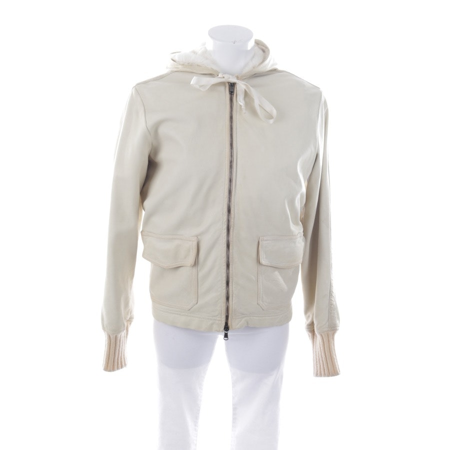leather jacket from Giorgio Brato in cream size 40 IT 46