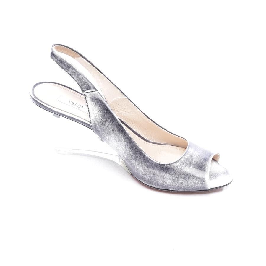 Sandaletten von Prada in Schwarz und Weiß Gr. D 40