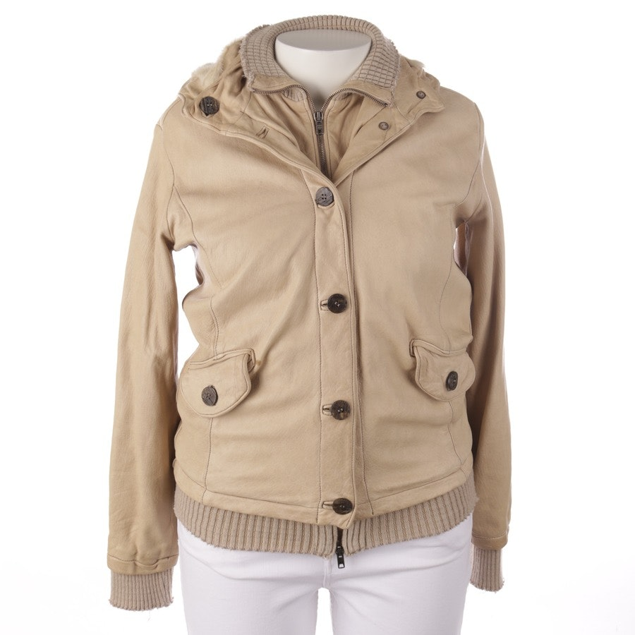 leather jacket from Giorgio Brato in beige size 42 IT 48