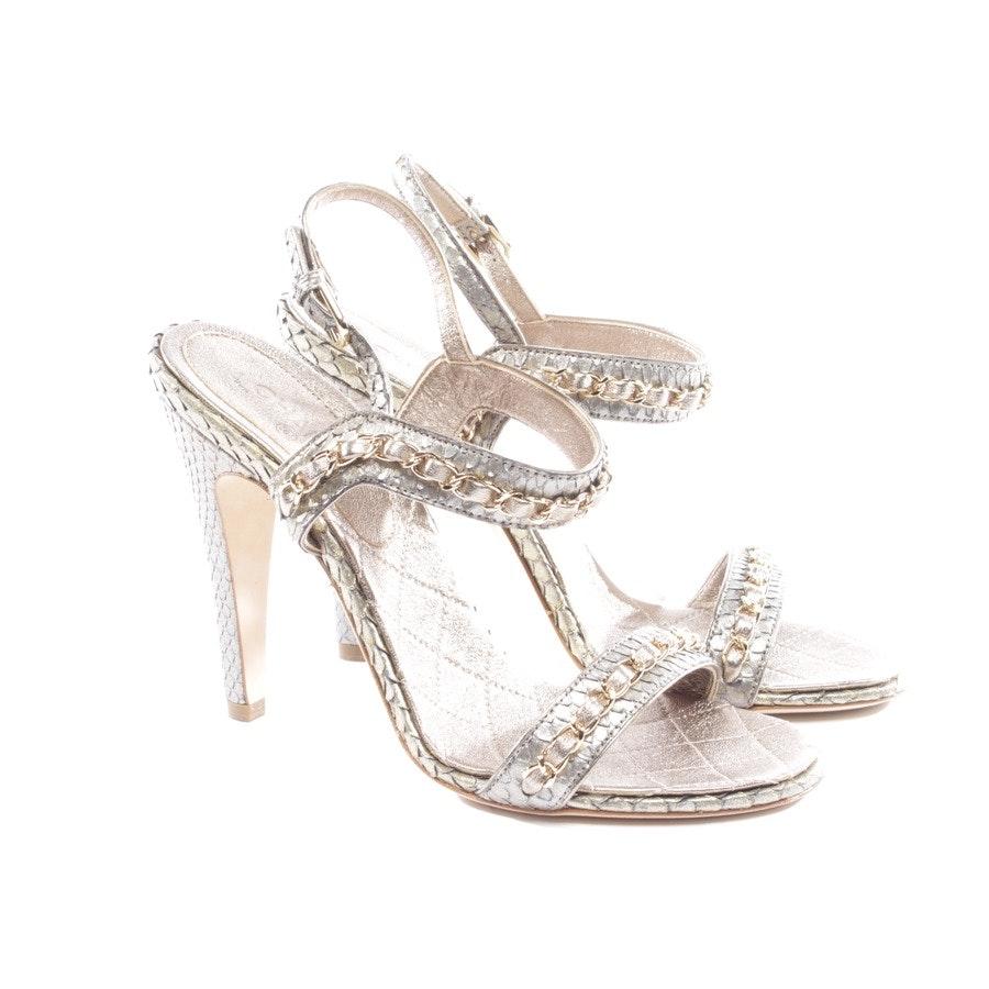 Sandaletten von Chanel in Grau Gr. D 37,5 - Neu
