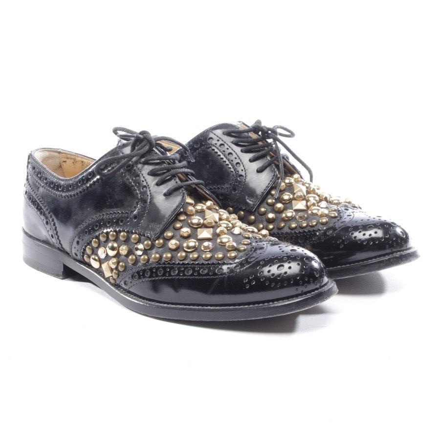 Schnürschuhe von Dolce & Gabbana in Schwarz und Gold Gr. EUR 35