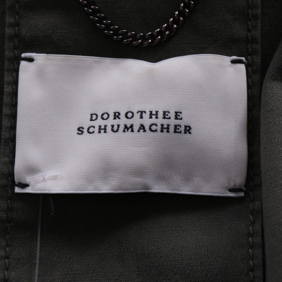 Übergangsjacke von Dorothee Schumacher in Olivgrün Gr. 40 // 4