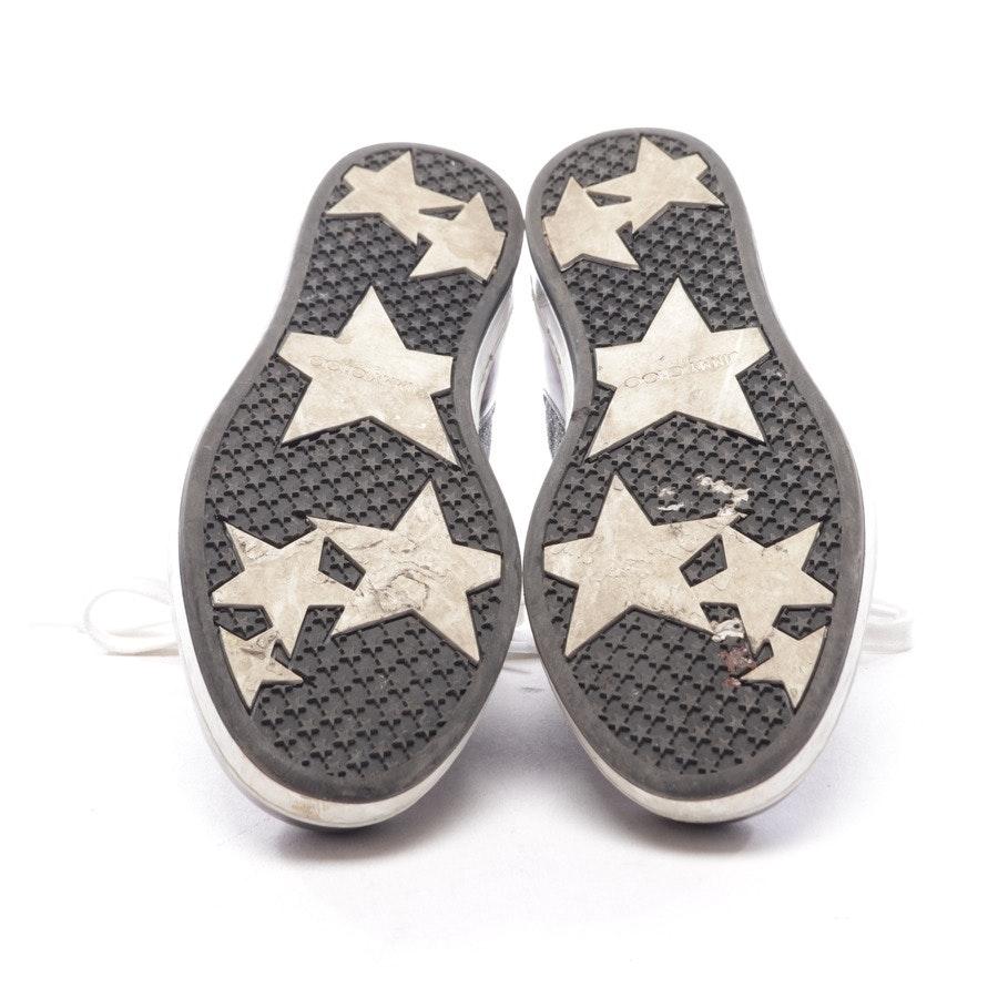 High-Top Sneaker von Jimmy Choo in Silber Gr. D 36