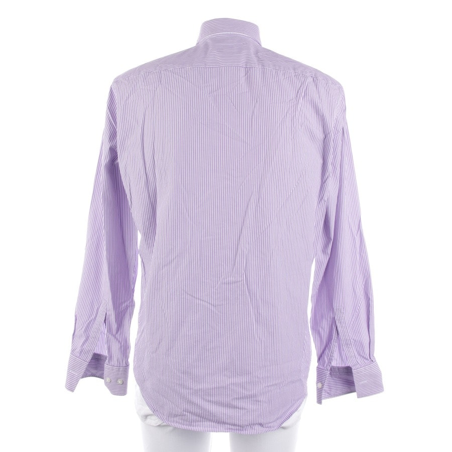 casual shirt from Hugo Boss Black Label in white and purple size M