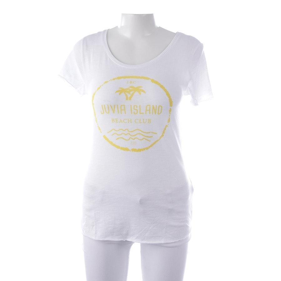 Shirt von Juvia in Weiß und Gelb Gr. S