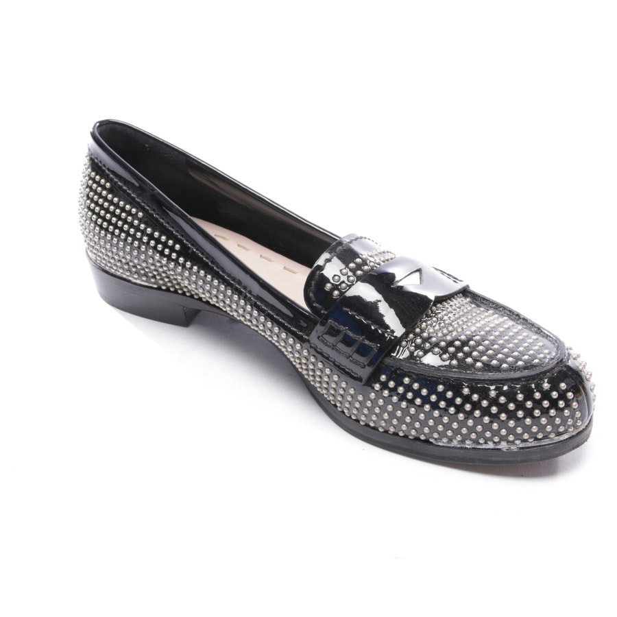 loafers from Miu Miu in black and silver size EUR 37,5