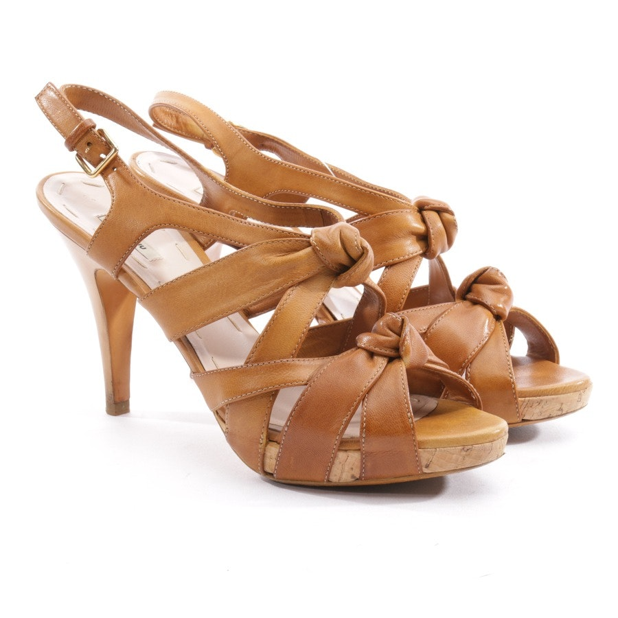 heeled sandals from Miu Miu in brown size D 37,5
