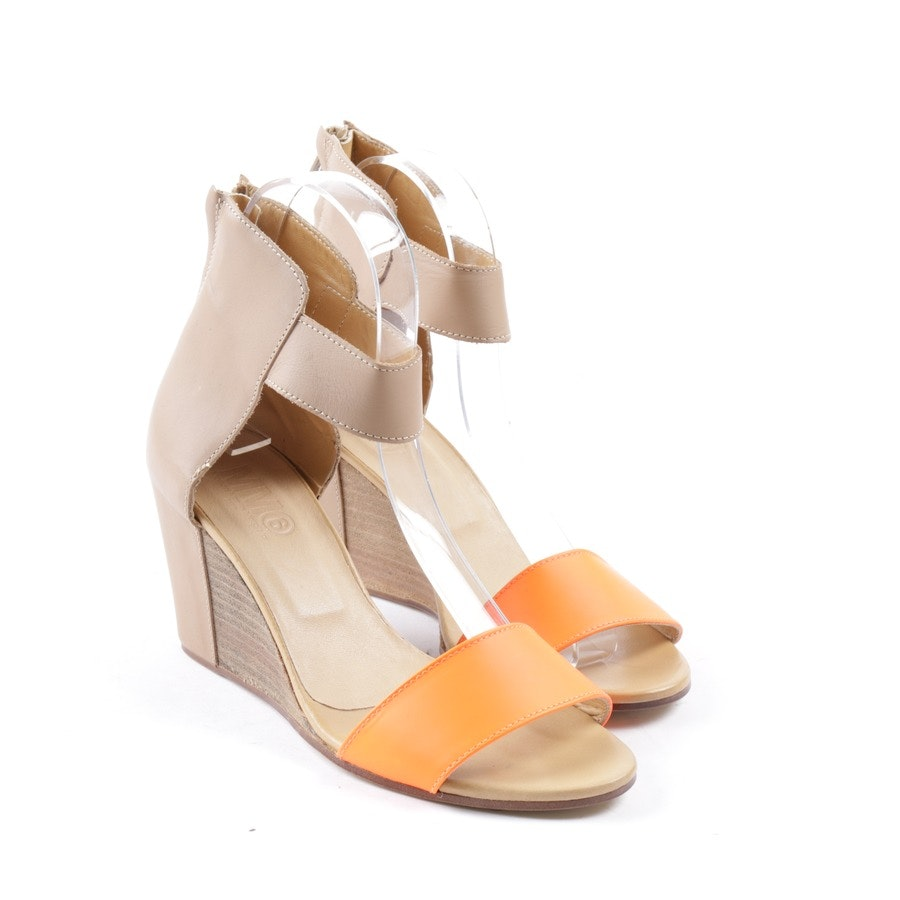 pumps from Maison Martin Margiela in neon orange and beige size D 38,5 - new