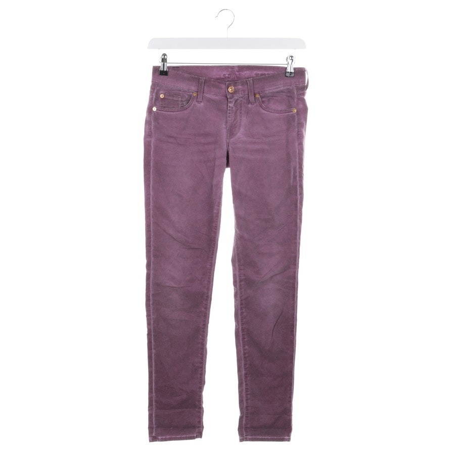 trousers from 7 for all mankind in purple size W25 - roxanne