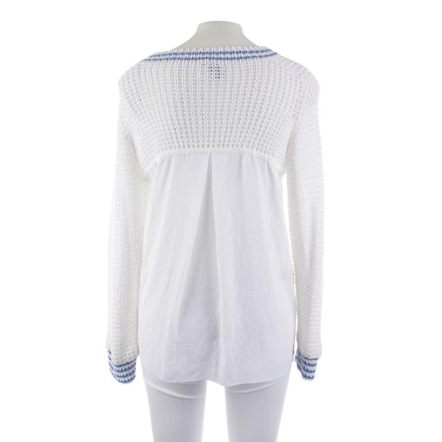 Pullover von Marc Cain Sports in Weiß und Blau Gr. M