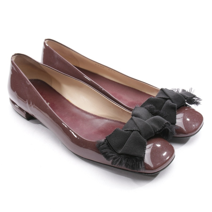 Ballerinas von Prada in Bordeaux Gr. EUR 37