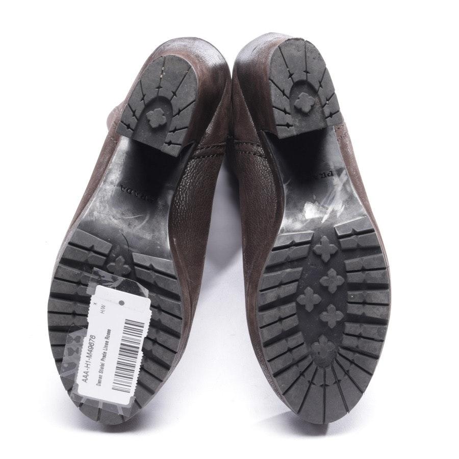 Stiefel von Prada Linea Rossa in Dunkelbraun Gr. EUR 37