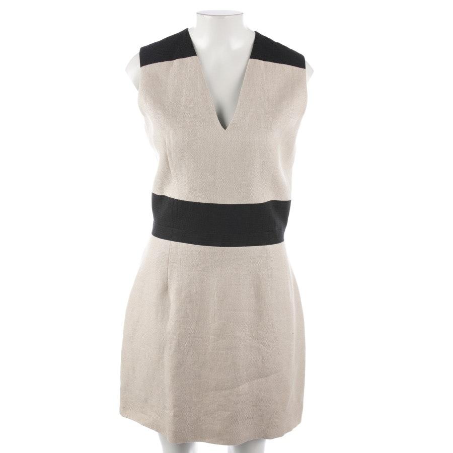 Kleid von Carven in Beige und Schwarz Gr. 38 FR 40