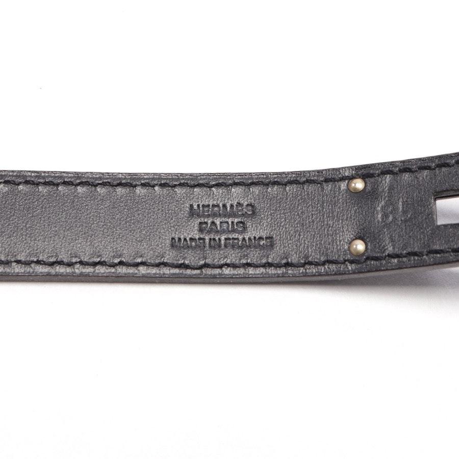 Gürtel von Hermès in Schwarz Gr. 85 cm - Kelly Extra Black
