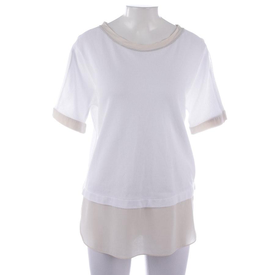 Shirt von Nice Connection in Weiß und Beige Gr. 38