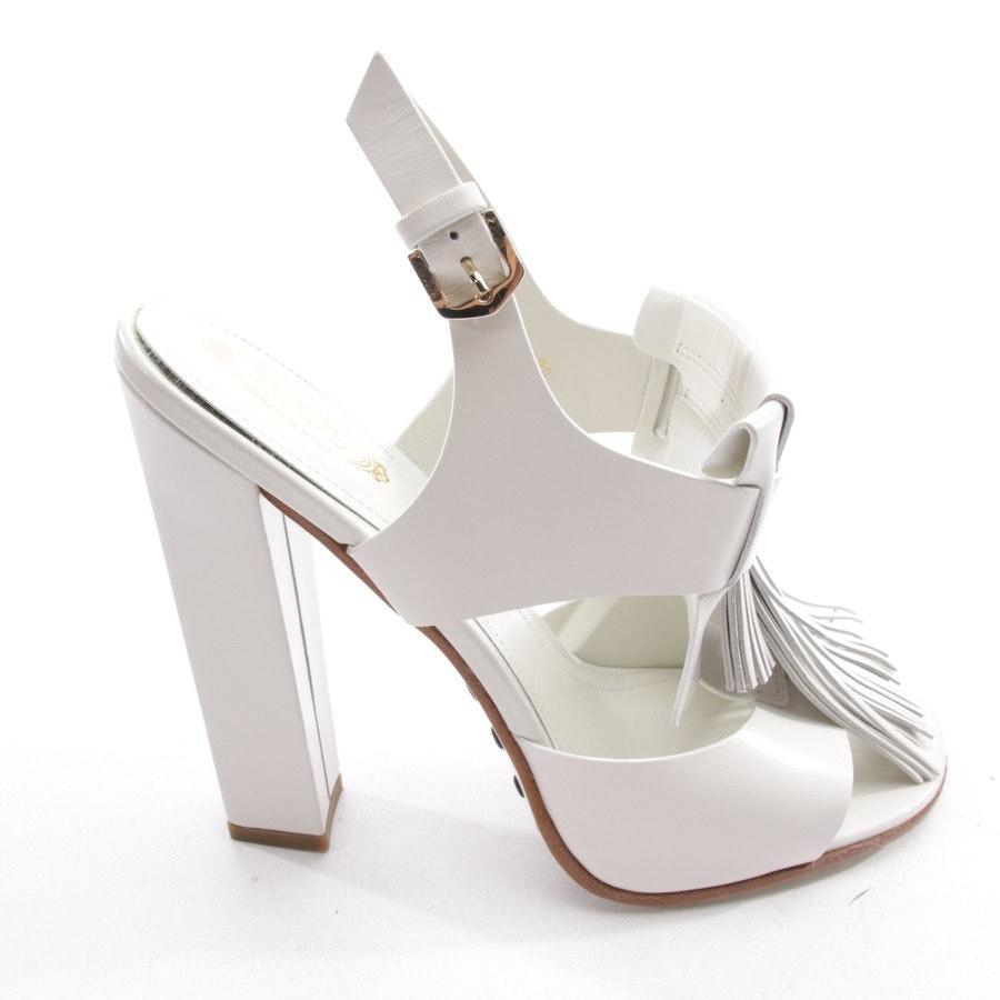 Sandaletten von Tod´s in Weiß Gr. D 39 - Neu