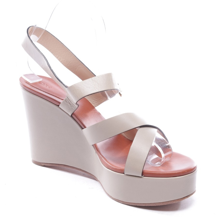 heeled sandals from Chloé in grége size D 40,5