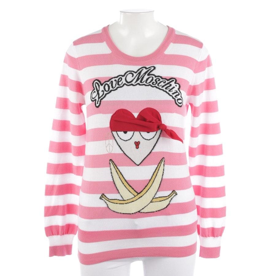 Pullover von Love Moschino in Rosa und Weiß Gr. 38 - NEU mit Etikett
