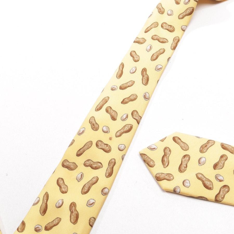 Seidenkrawatte von Hermès in Gelb und Braun