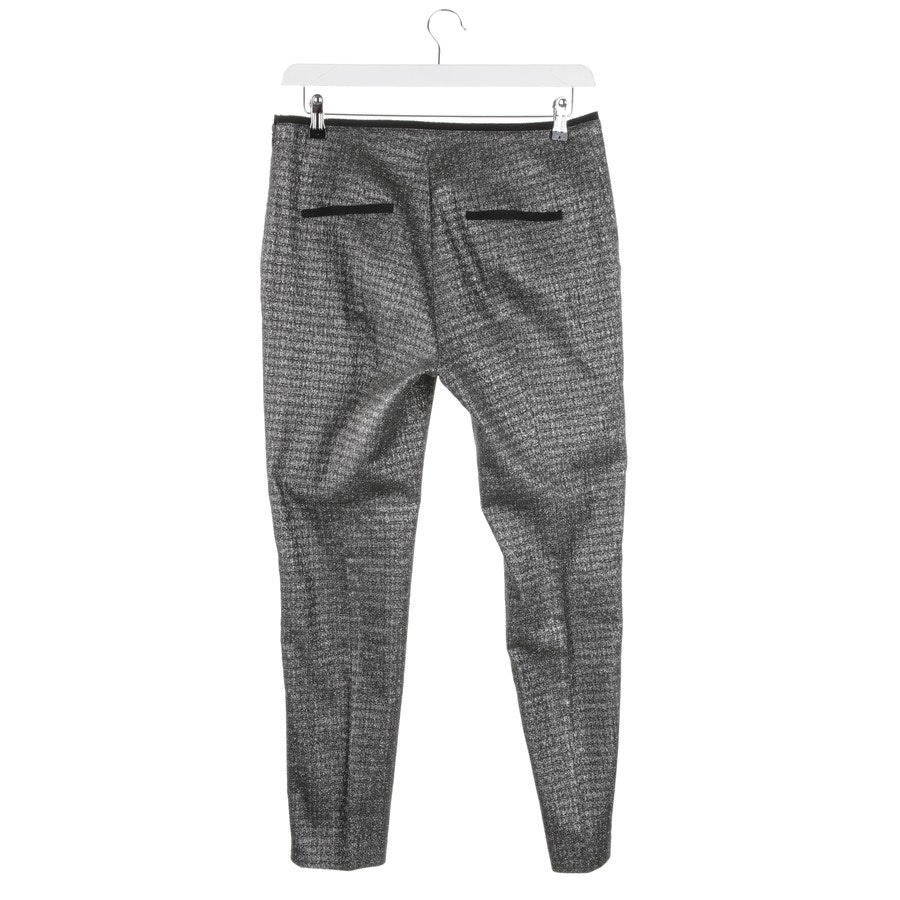 trousers from Schumacher in silver and black size 42 / 5