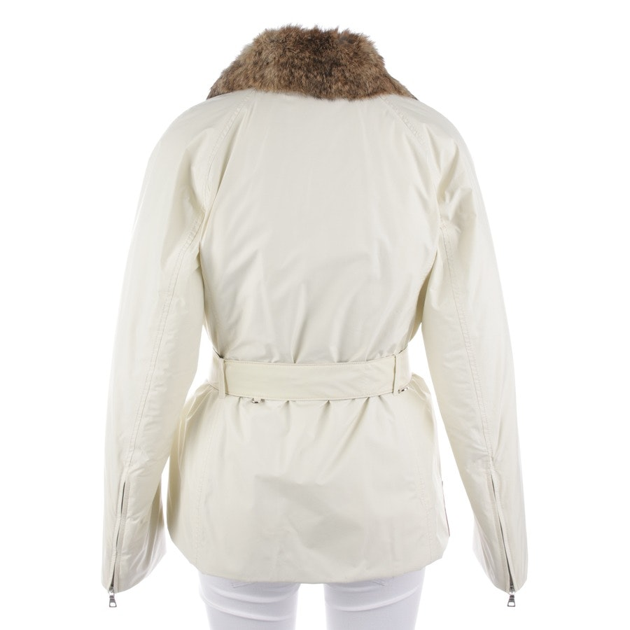 winter coat from Prada Linea Rossa in cream size 38 IT 44