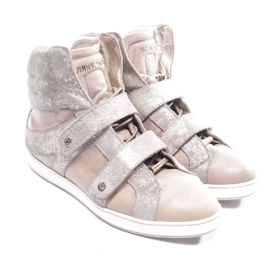trainers from Jimmy Choo in taupe and gold size D 36