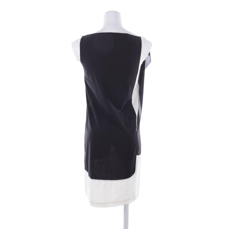 Kleid von Balenciaga in Cremeweiß und Schwarz Gr. 34 FR 36