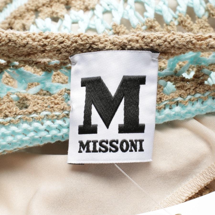 Strickkleid von Missoni M in Sand und Blau Gr. 32 IT 38