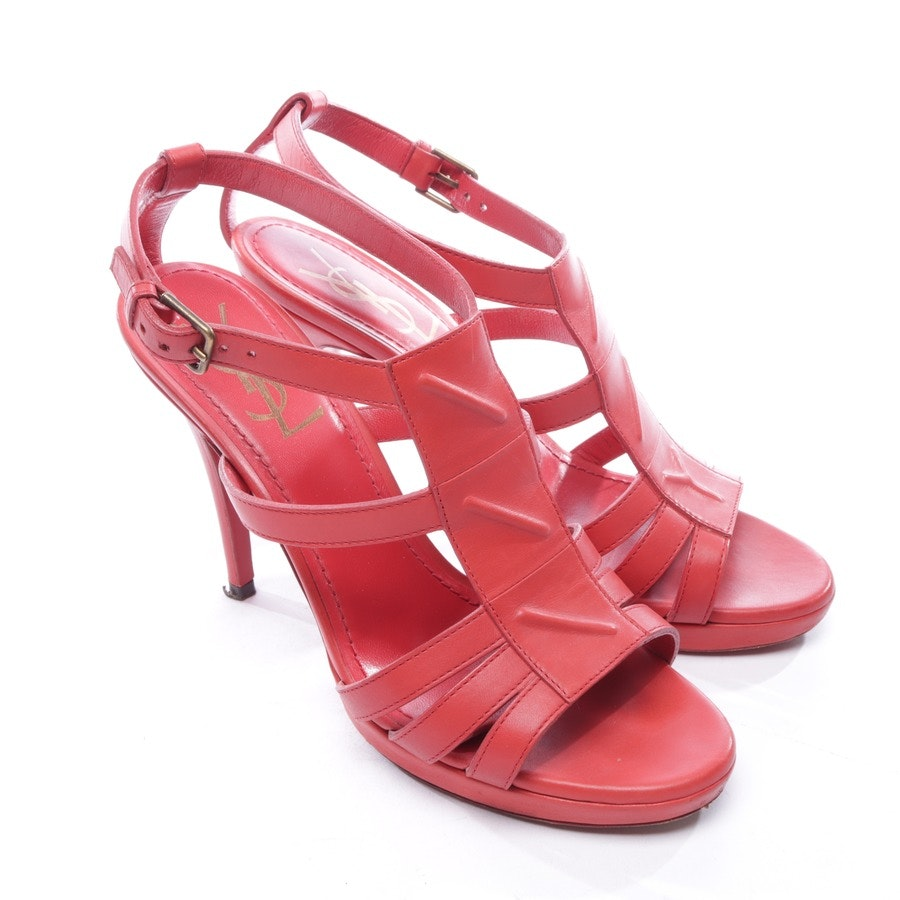 heeled sandals from Yves Saint Laurent in red size D 37
