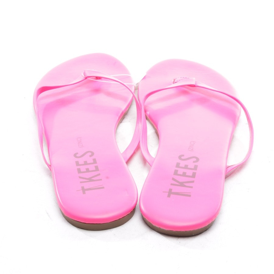 flat sandals from TKEES in neon pink size D 37
