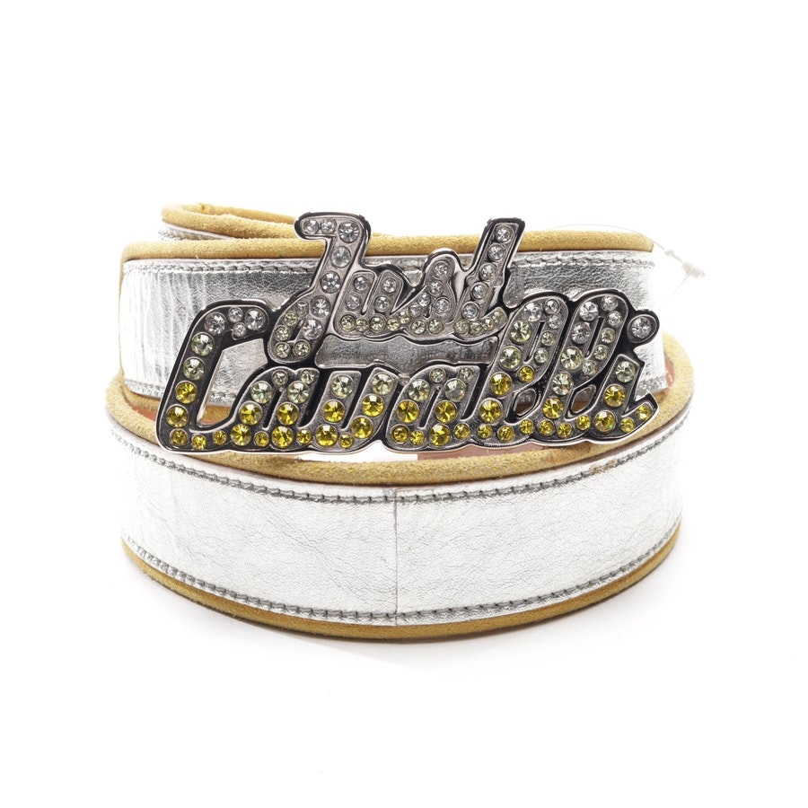 belt from Just Cavalli in silver and yellow size 75 cm