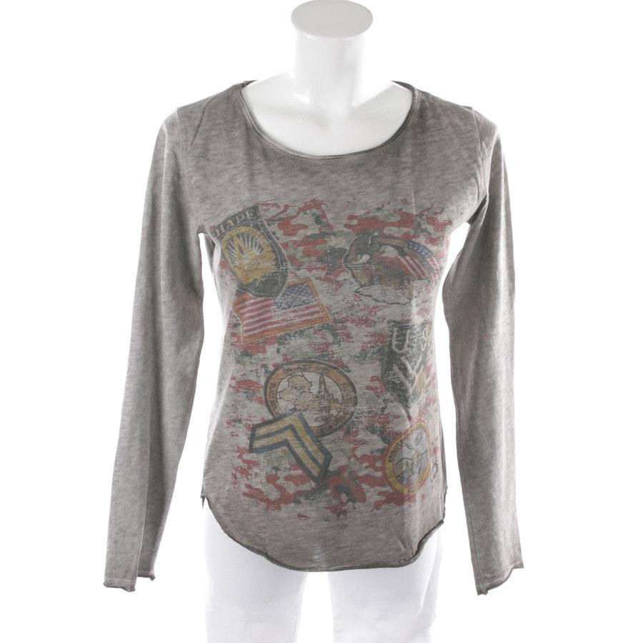Langarmshirt von Please in Taupe und Multicolor Gr. S