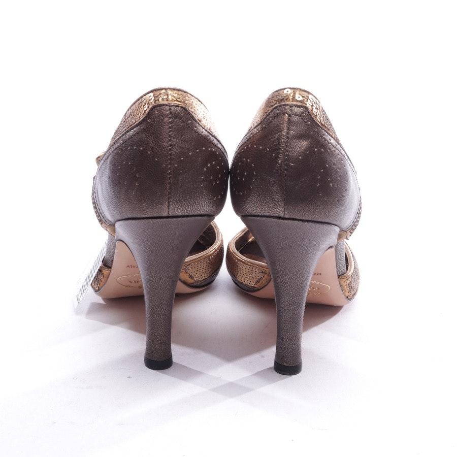 Peeptoes von Prada in Bronze und Gold Gr. D 39,5 - Neu