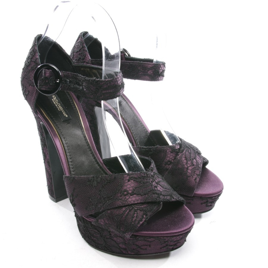 heeled sandals from Dolce & Gabbana in purple size D 39,5 - new
