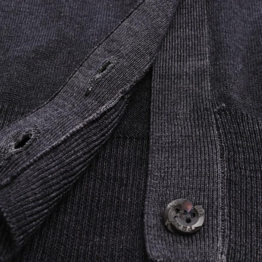 Wollstrickjacke von Prada Linea Rossa in Anthrazit Gr. 34 IT 40