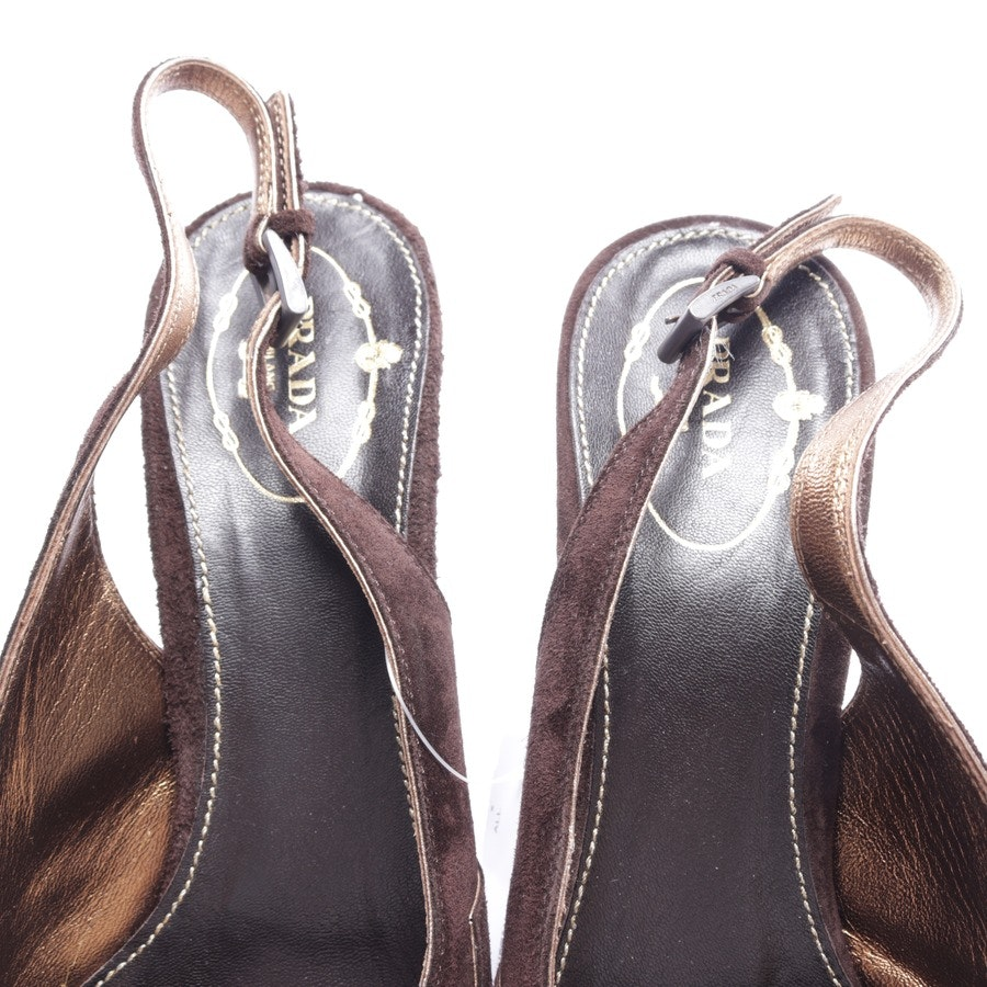 pumps from Prada in dark brown and gold size D 40,5
