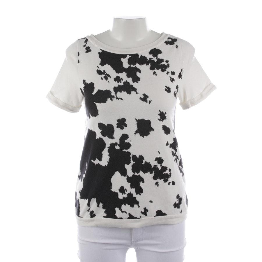 Shirt von Patrizia Pepe in Creme und Schwarz Gr. 32 / 0
