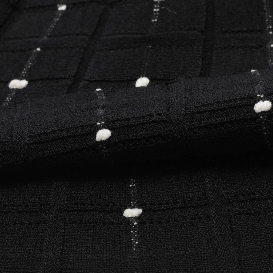 Strickkleid von Alexander McQueen in Schwarz und Weiß Gr. XS
