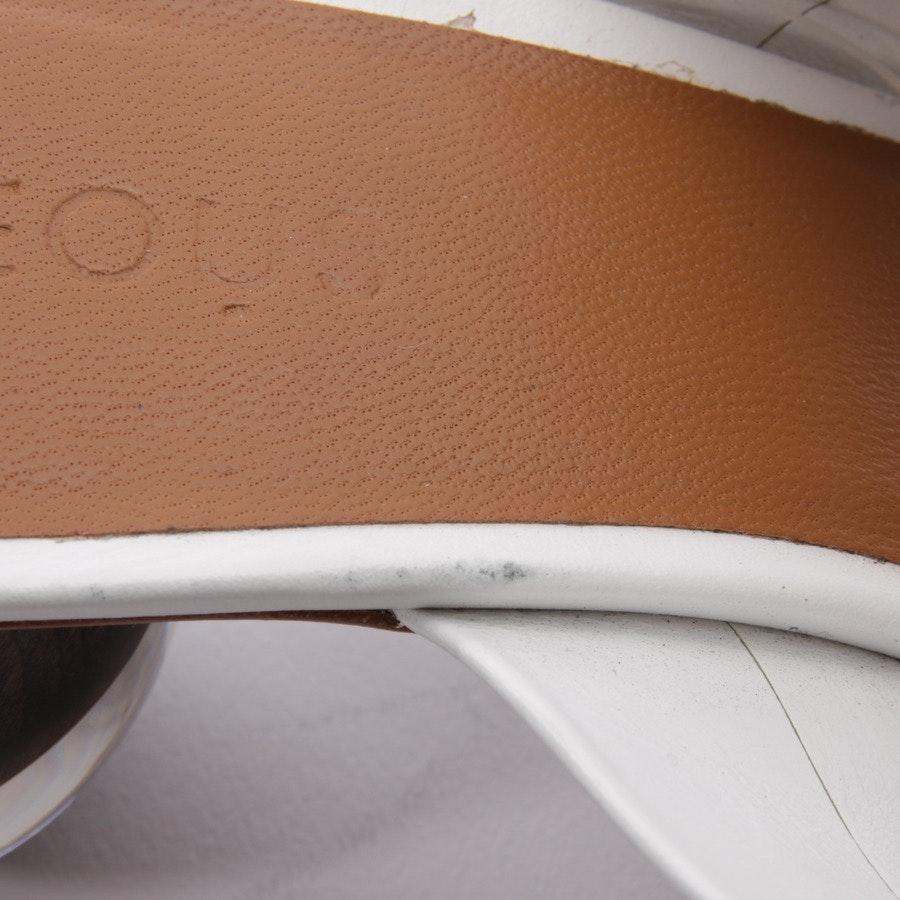 Pantoletten von Neous in Weiß und Braun Gr. D 37