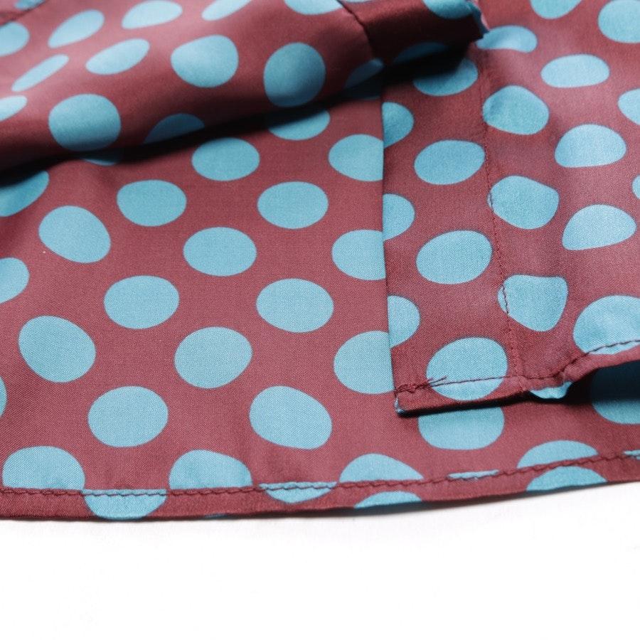 Bluse von Marc Cain in Bordeaux und Blau Gr. 36 N 2