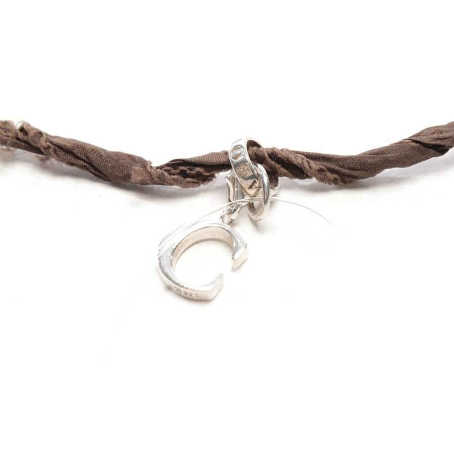 Wickelarmband von Thomas Sabo in Braun und Silber