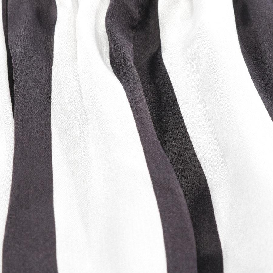 Seidenhose von Elisabetta Franchi in Kakaobraun und Weiß Gr. 34 IT 40