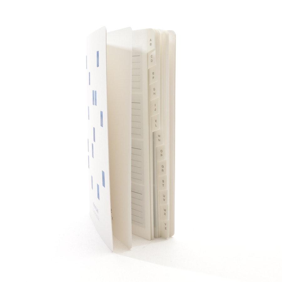 Adressbuch von Louis Vuitton in Offwhite und Blau