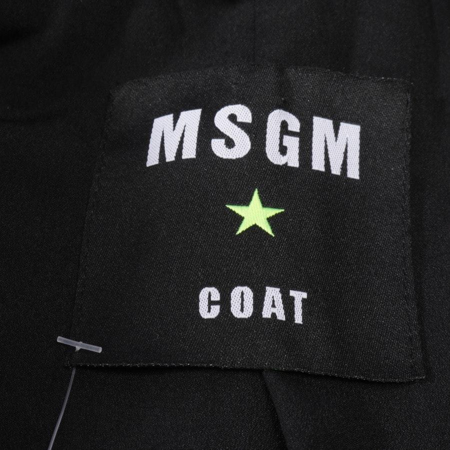 Kunstfellmantel von MSGM in Petrol Gr. 34 IT 40