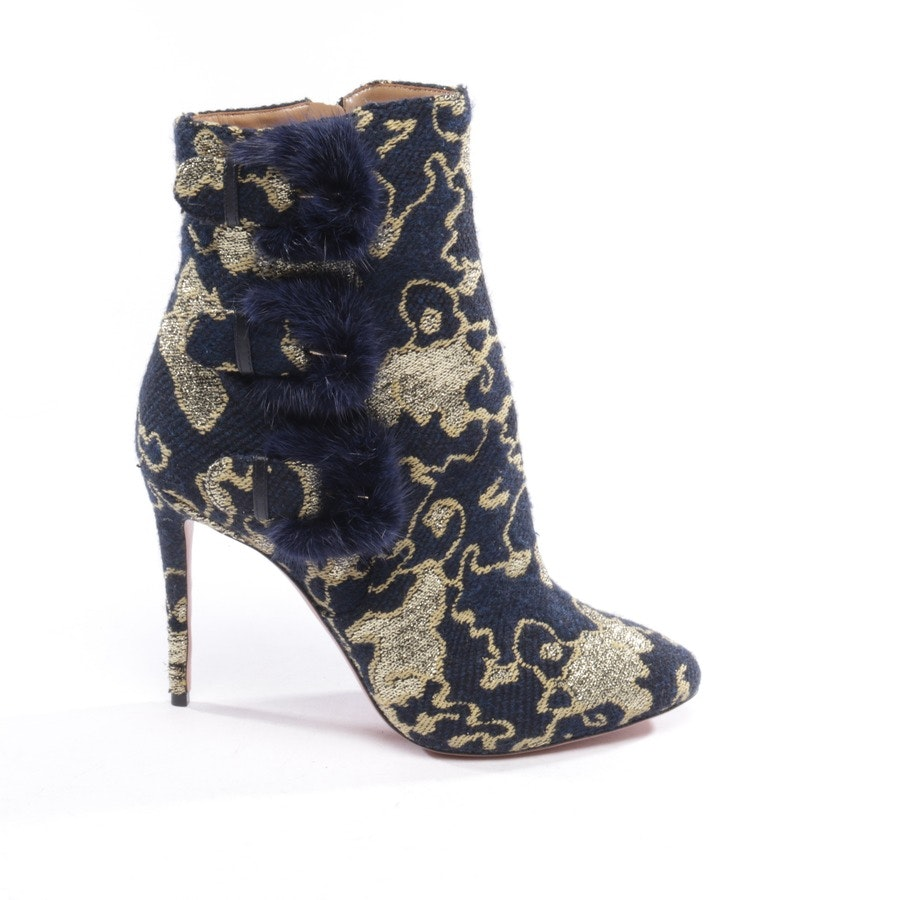 ankle boots from Aquazzura in dark blue and gold size EUR 42 - new